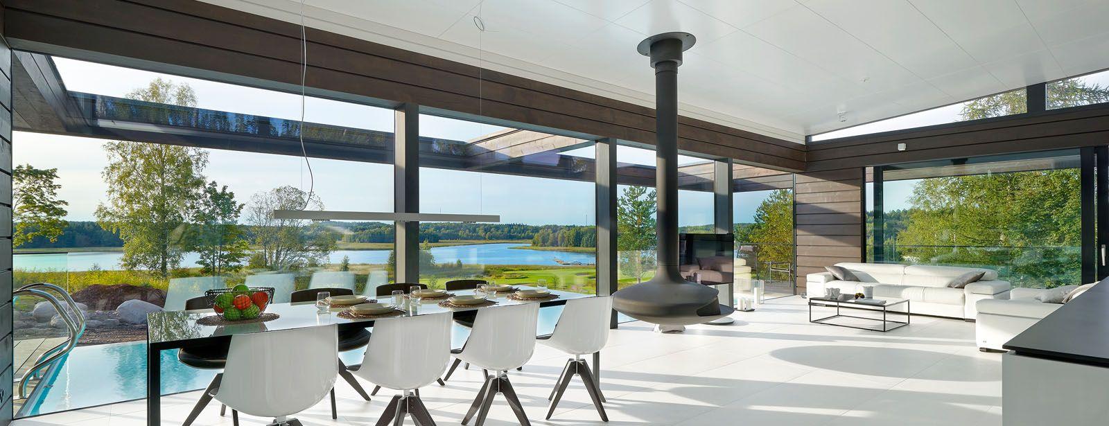 Parhaat Talopaketit Honkataloilta Honkatalot Talopaketti Modern Villa Design House Inspiration Dream House