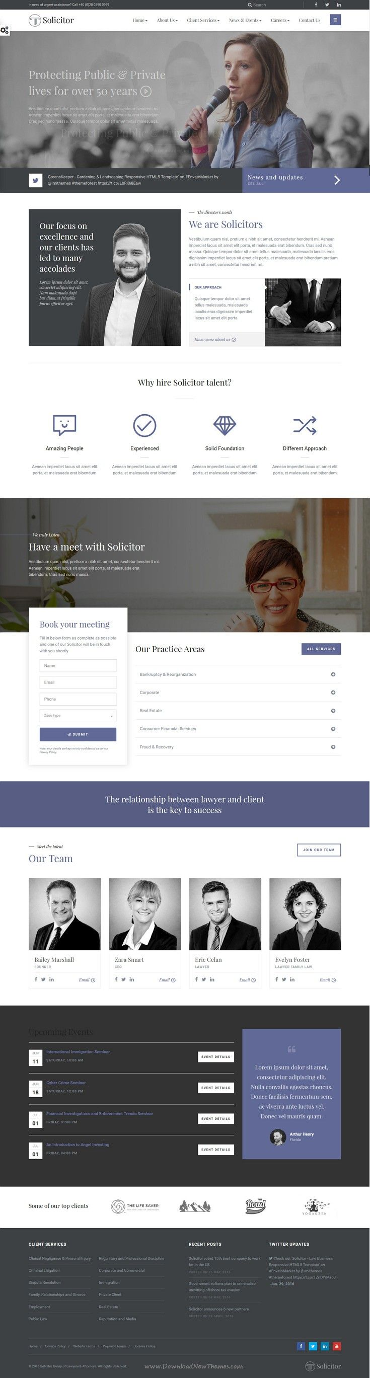 Solicitor - Law Business Responsive HTML5 Template | Corporate ...
