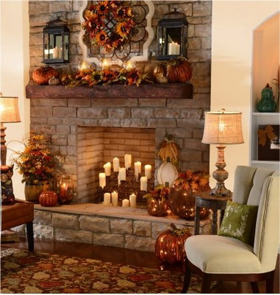 25 Cozy Ideas For Fireplace Mantels: Stylish Thanksgiving Decor Items To Create A Cozy