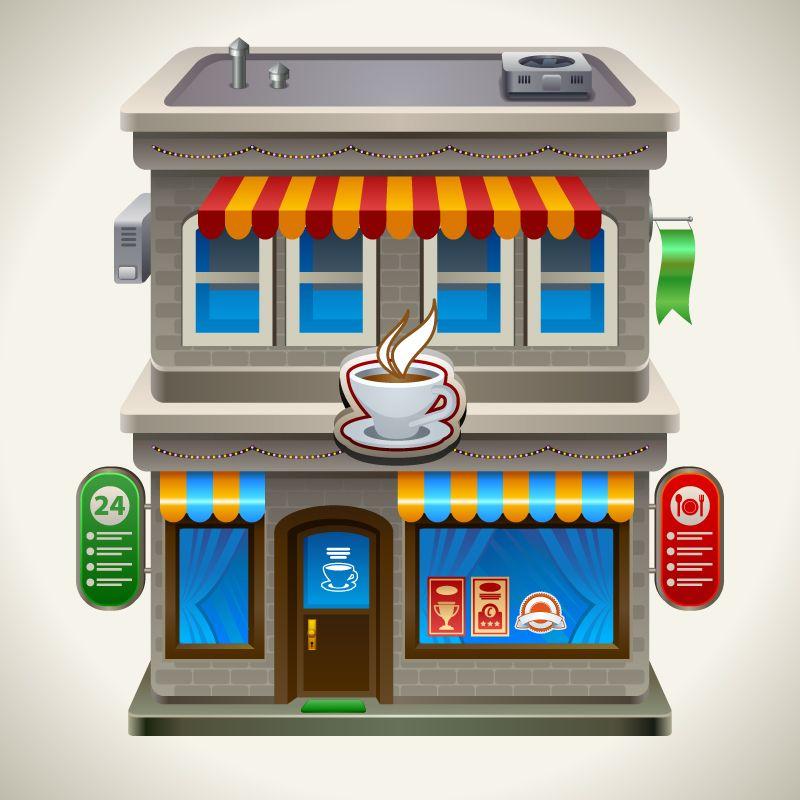 Cartoon Coffee Shop Cartoon Coffee Vector Material Cartoon