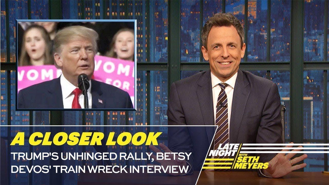Trump S Unhinged Rally Betsy Devos Train Wreck Interview A Closer Look Lemontrump Presidentpunk Trump How To Memorize Things Trump Lies Phone Interviews