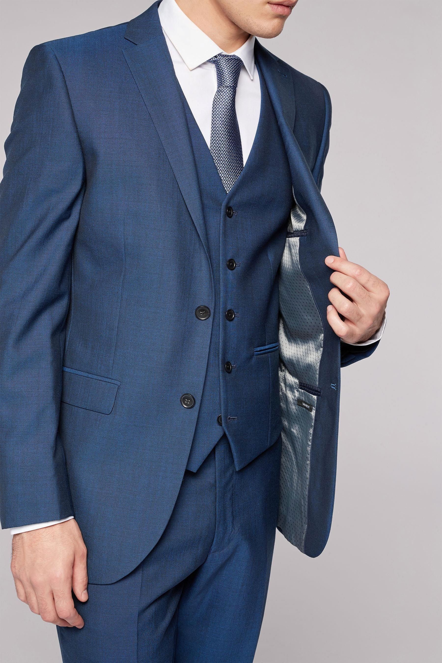 Buy Blue Pure Wool Suit: Jacket from the Next UK online shop ...