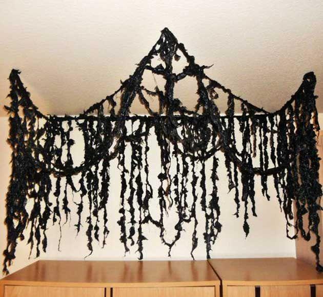 Top 20 Ideas Turn Trash Bags Into Creepy Halloween Decorations - halloween cheap decorations