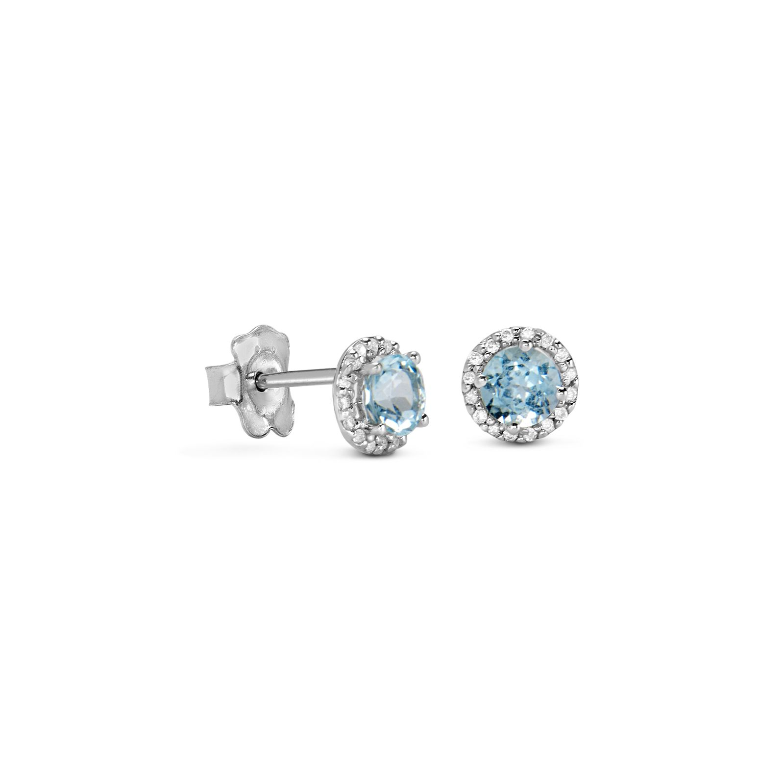 18kt white gold TOUS Color Kings earrings with diamonds and blue