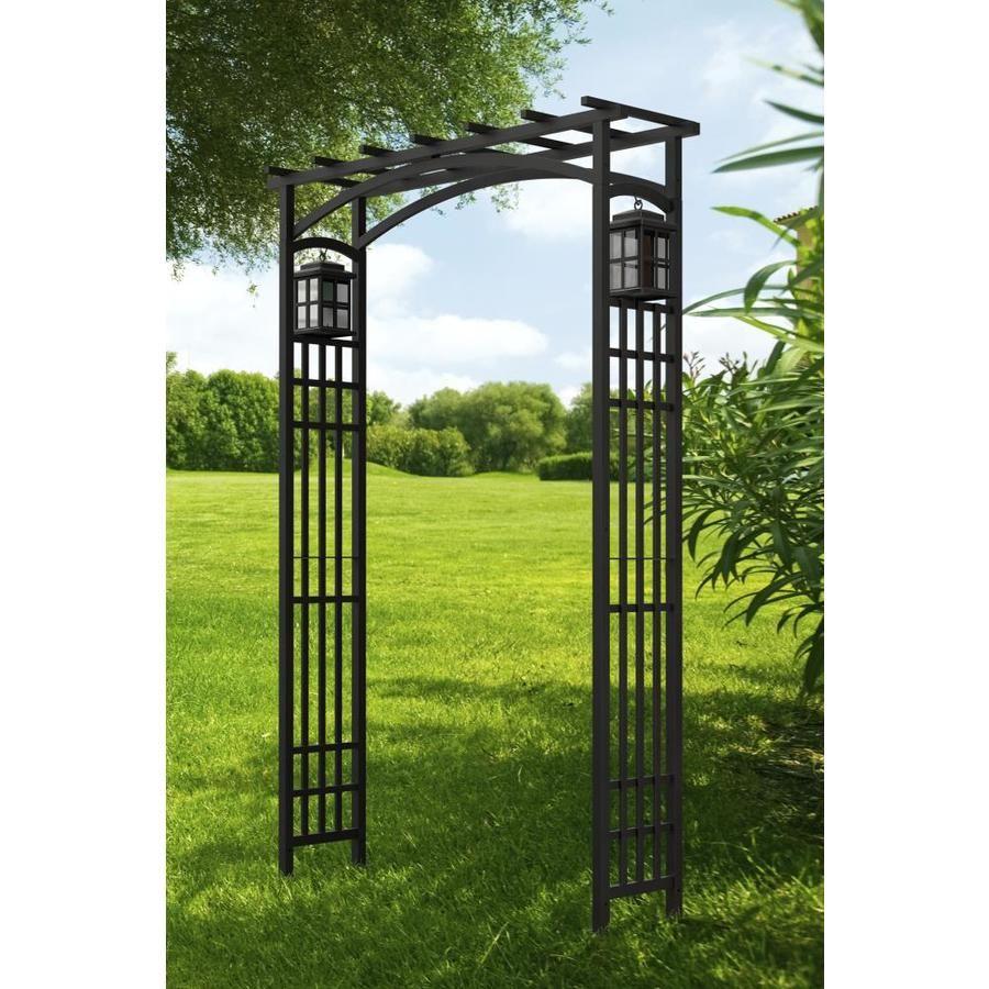 Garden Accents Lantern Arbor 4 33 Ft W X 6 56 Ft H Black Garden