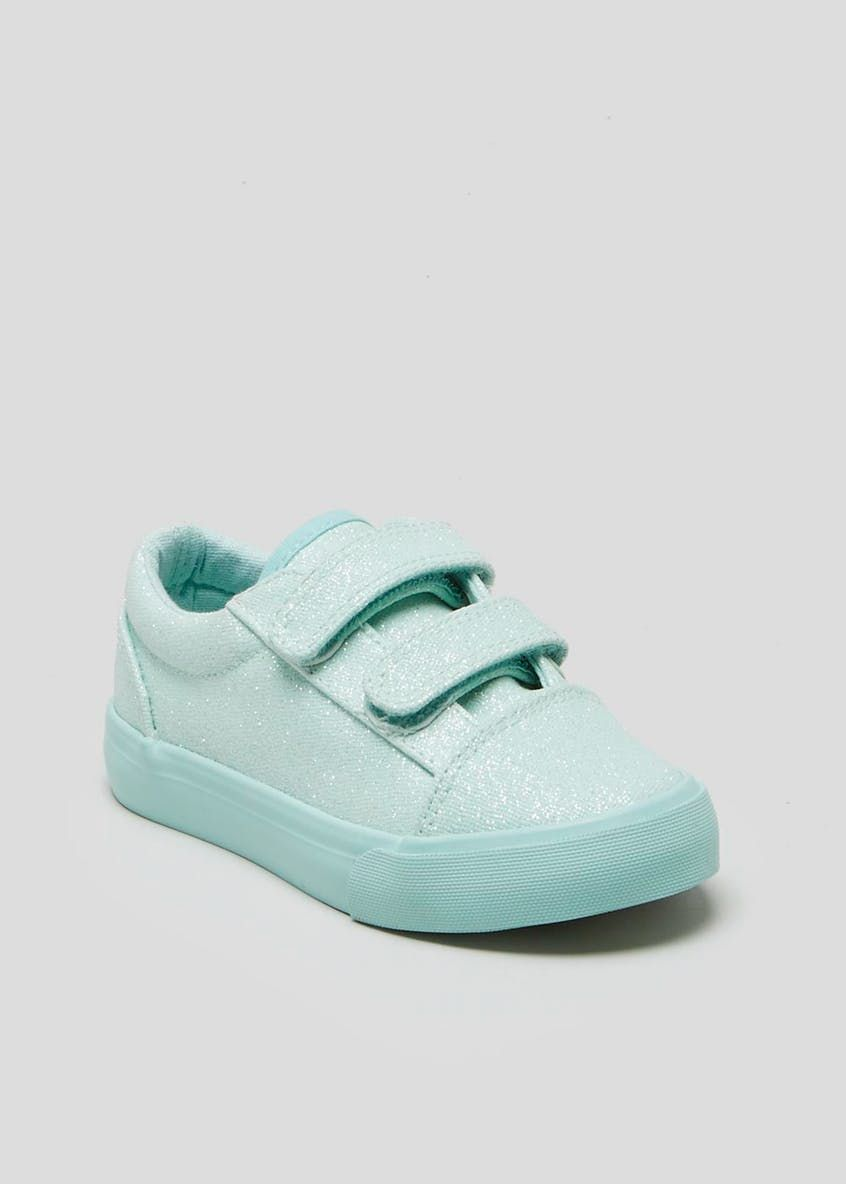 a9923e401ea4 Kids Glitter Trainers (Younger 4-9) – Turquoise – Matalan