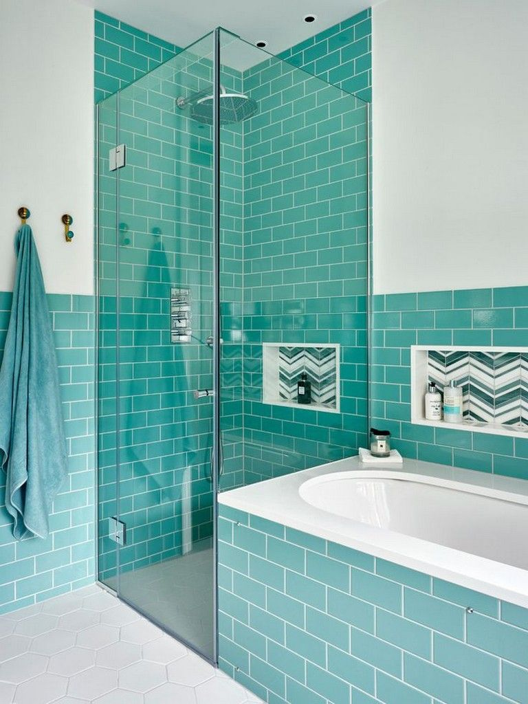 30 Amazing Turquoise Bathroom Designs With Images Turquoise Bathroom Simple Bathroom Bathroom Design