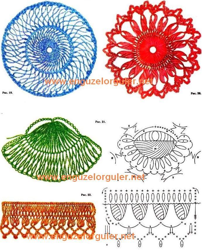Variações do crochê de grampo | horquilla - hairpin lace | Pinterest ...