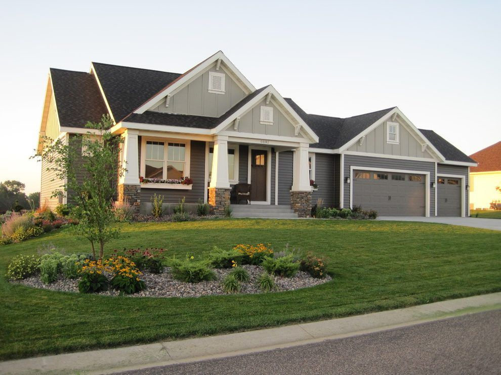 Vinyl Siding Styles Exterior Craftsman With Front Porch Rochester Mn