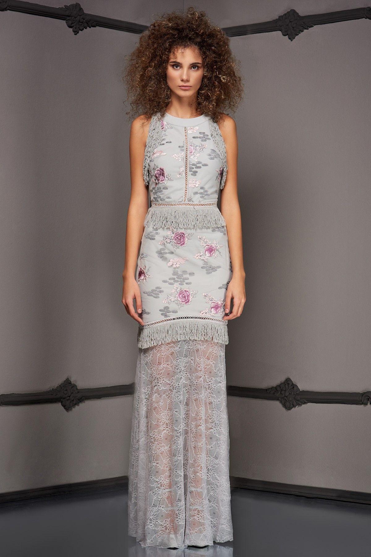 Irene Gri Elbise Raisa Vanessa For Trendyol Trendyol Moda Stilleri Moda Kiyafetler Giyim