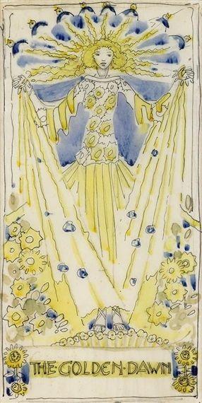 ). The Golden Dawn.: Graphics Art, Art Nouveau, Marion King, Jessie ...