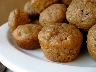Whole Wheat Honey Banana Muffins from New Nostalgia.  These are amazingly MOIST and the recipe makes enough to freeze some. #bananabread #banana #bananamuffins #muffin