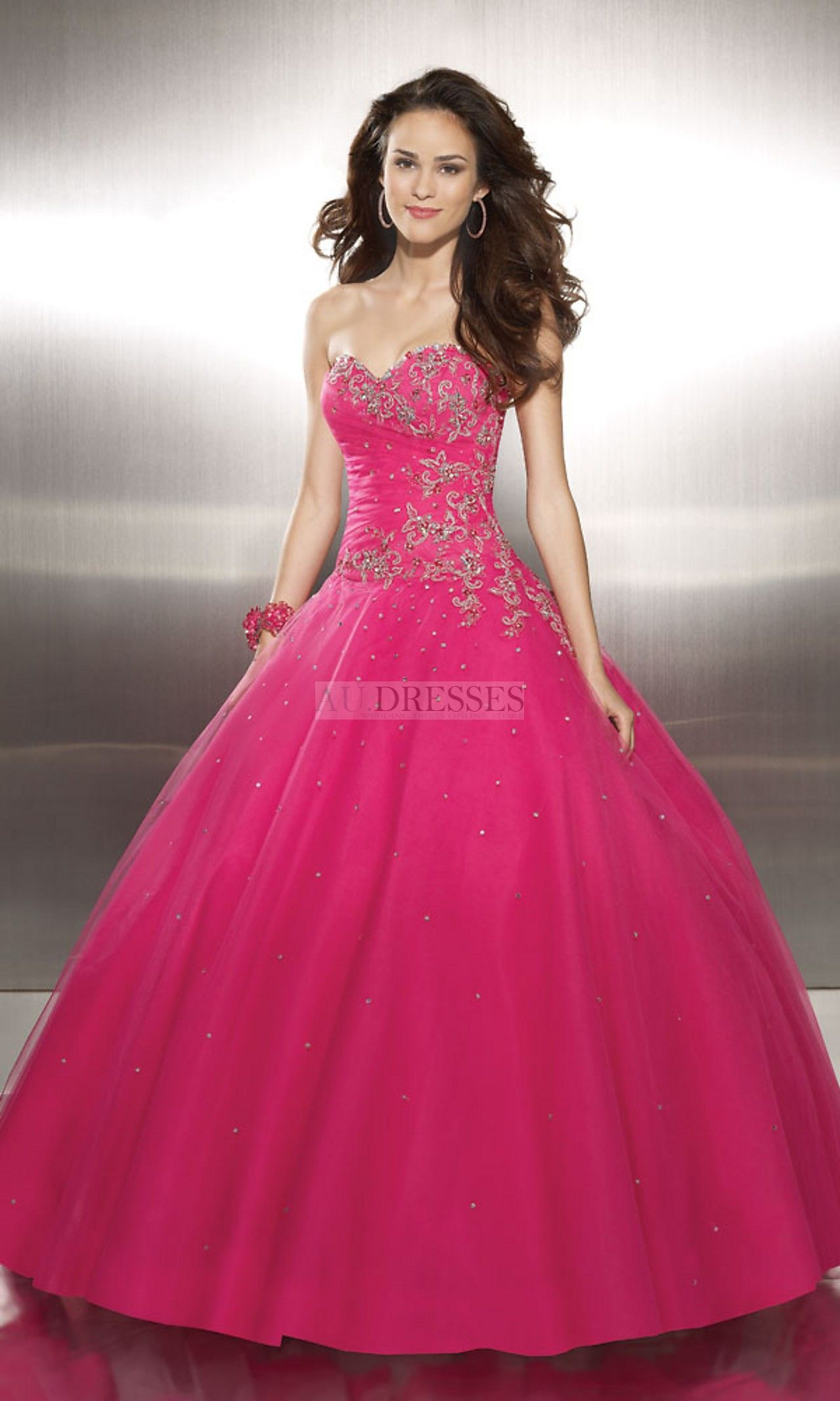 Princess Tulle With Embroidery And Beading Gown - Prom Dresses ...