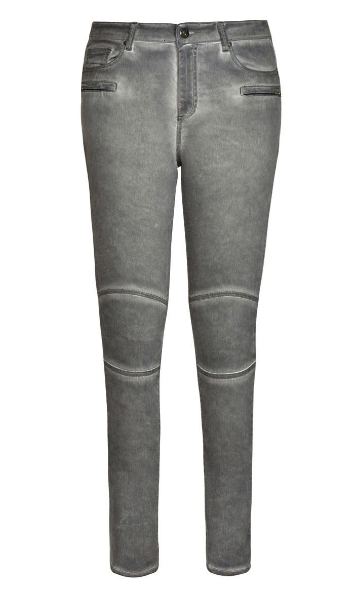 City Chic Silver Skinny Jeans - Women's Plus Size Fashion City ...