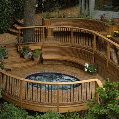 Design Free Plans Software How To Build Deck Designs Backyard Decks Backyard Curved Deck