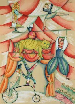 Francoise Deberdt La Piste Aux Etoiles Portfolio Price Estimate 800 1200 Animal Paintings Lithograph Art