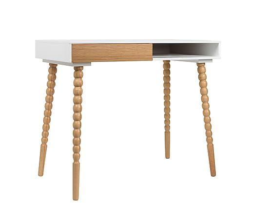 Bureau twisted bois marron et blanc l u ac dimensions largeur