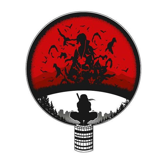 Naruto Shippuden Itachi Uchiha Clan Crest Genjutsu Vinyl Stickerget