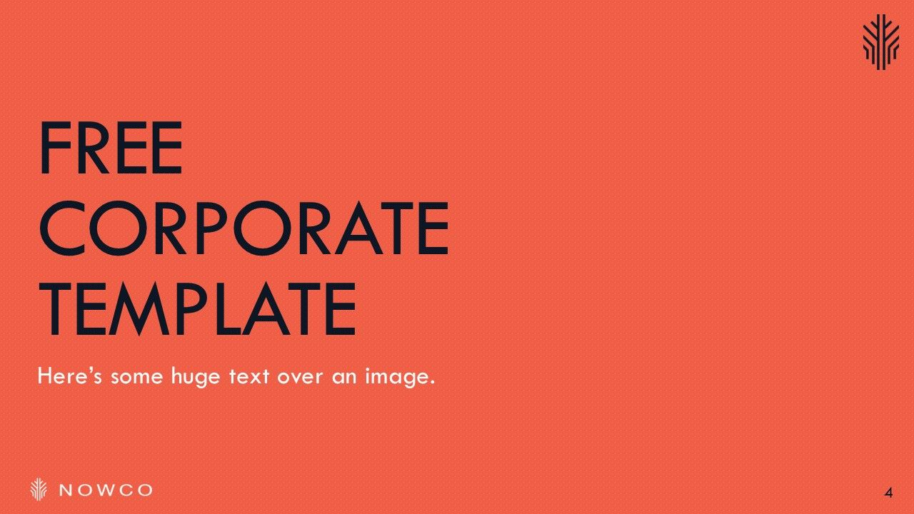 nowco - free corporate powerpoint template | be great. | pinterest, Powerpoint templates