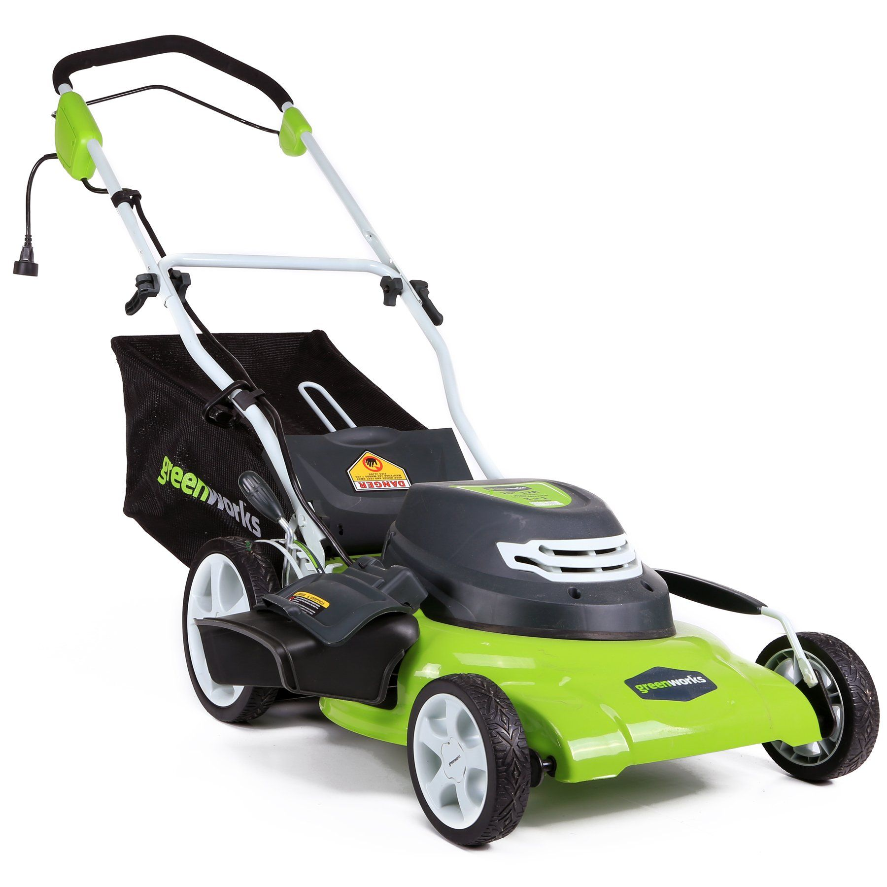 Greenworks 20inch 12 Amp Corded Lawn Mower 25022 Find Out More