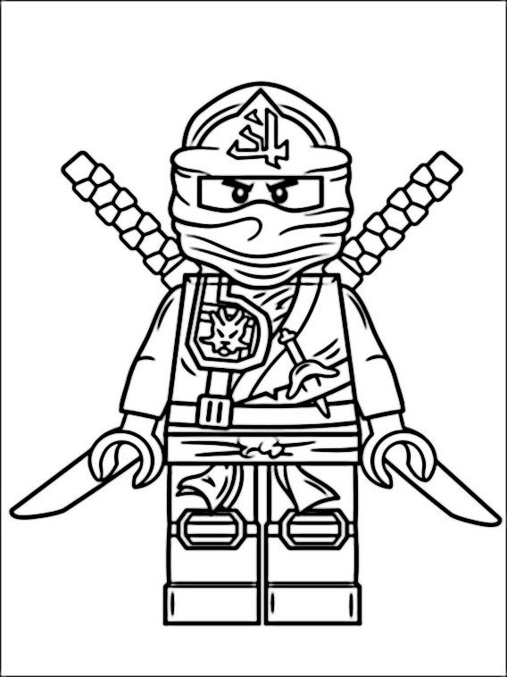 Lego Ninjago Coloring Pages 2 | Lego Party | Ninjago coloring pages ...