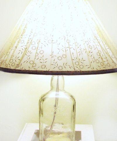 Diy Make Lampshades From Old Glass Bottles Old Glass Bottles