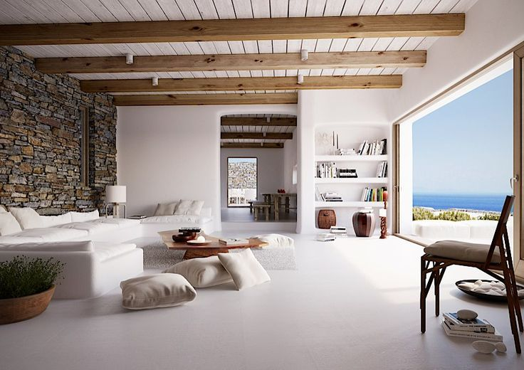 natural modern beauty with striking views of greek island of tinos modern properties modern homes for - Greek Modern Home Architecture Design