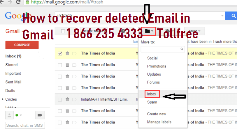 How Do You Recover Delete Emails In Gmail Account Recovery Email Service Provider Gmail