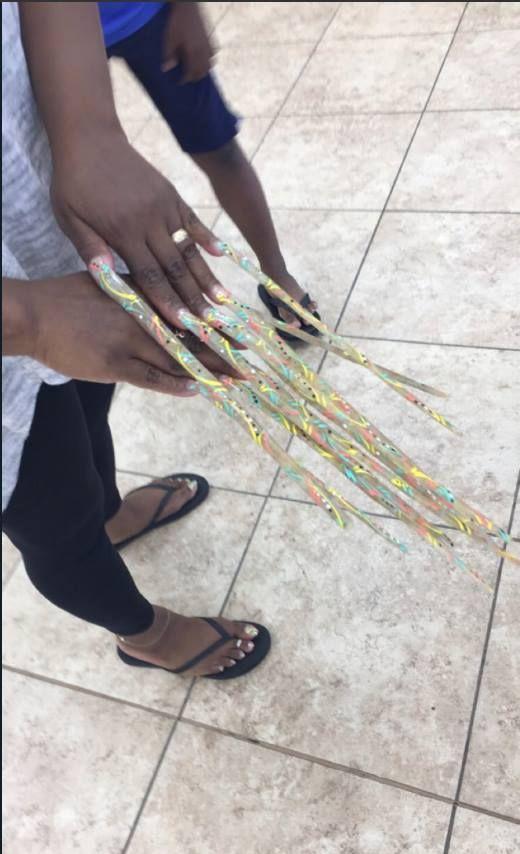 pink nails | long nails | Pinterest | Pink nails, Long acrylic nails ...