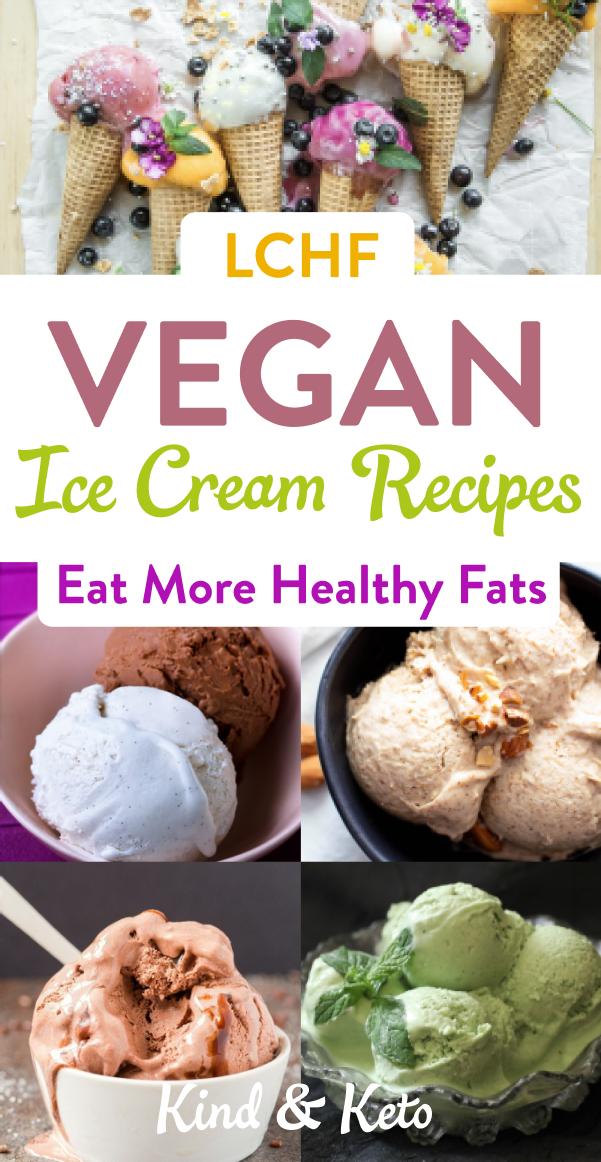 Lchf Vegan Ice Cream Recipes Eat More Healthy Fats In 2020 Vegan Ice Cream Recipe Dairy Free Dessert Easy Quick Dairy Free Dessert