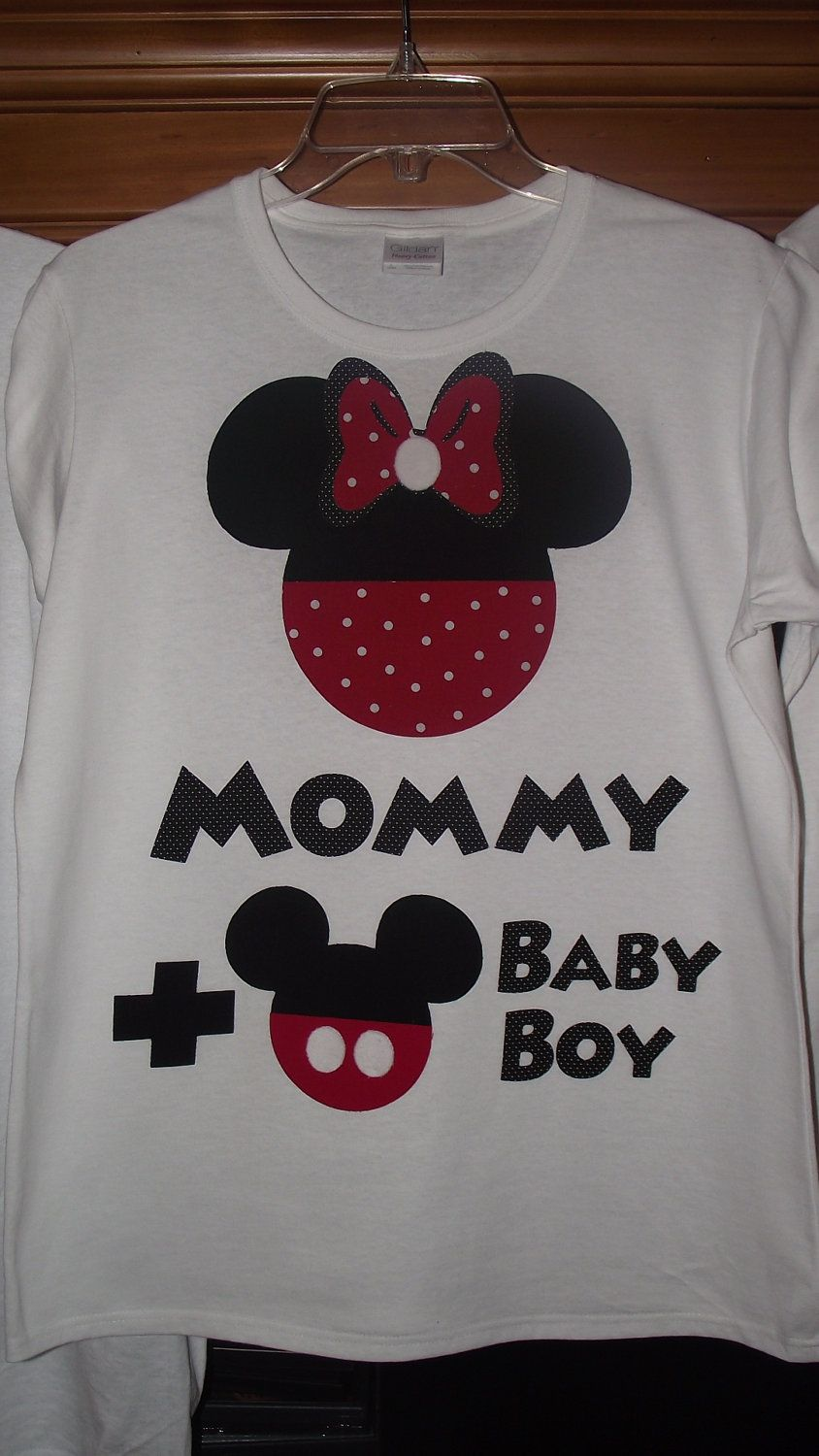 0ed67d689 Minnie Mickey Mouse Baby Gender Announcement - Disney Birthday Family  Custom T-Shirt Personalized Applique Top. $17.00