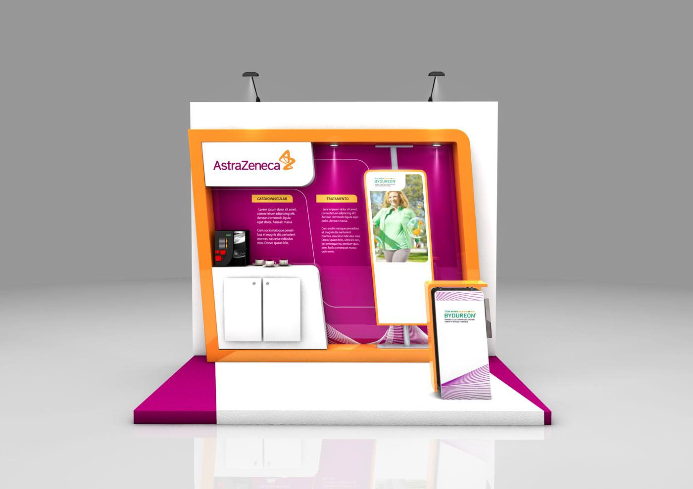Astrazeneca Exhibition Booth On Behance Exhibition Booth Exhibition Booth Design Exhibition