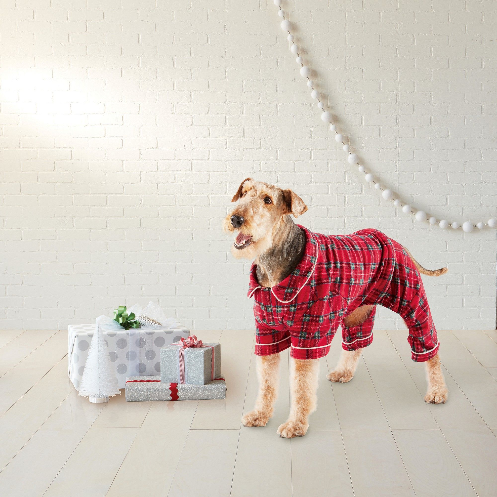 Plaid Family Holiday Dog Pajamas Small