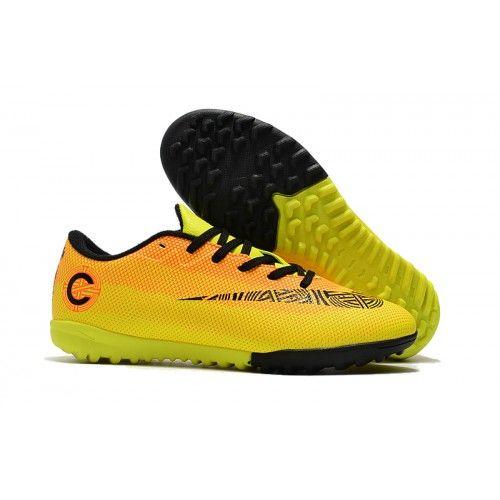 wholesale dealer b7816 61933 ... denmark chaussures futsal et foot en salle solde nike mercurial vapor  xii tf jaune orange noir