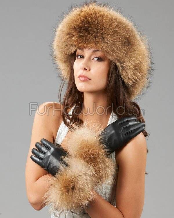 Finn Raccoon Fur Trim Wool Lined Leather Gloves in 2018  bb18190d68de