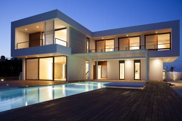 Casa minimalista iluminacion obra kinleiner pinterest - Iluminacion casas modernas ...