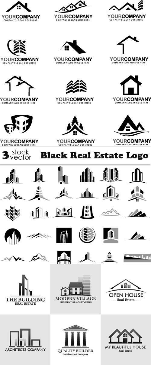 Vectors Black Real Estate Logo Real Estate Logo Vector Real Estate