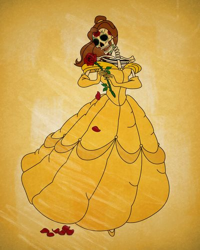 2fd4357ca7 Day of the Dead Belle Art Print Day Of The Dead Drawing