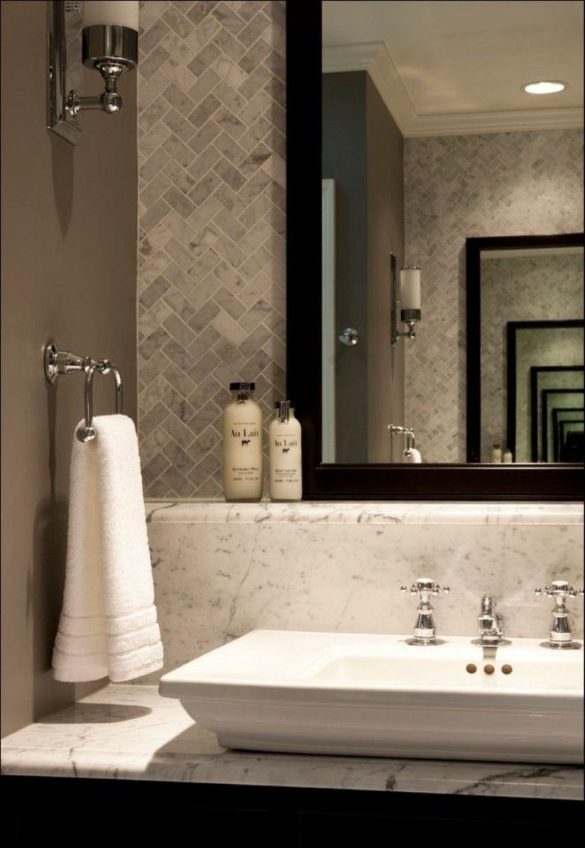 Large Decorative Wall Tiles Bathroom Large Square White Vanity Sink Mixed With Decorative