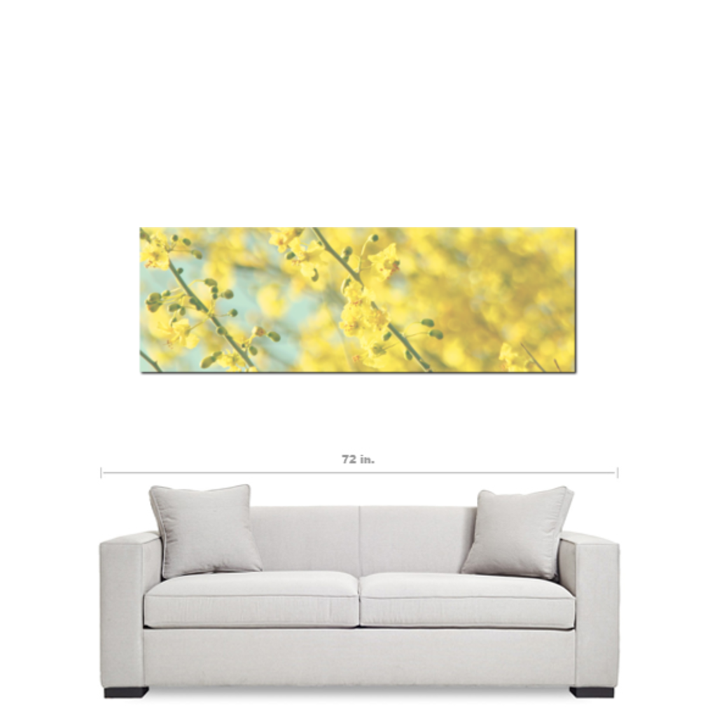 Yellow Nursery Art - Yellow Blue Canvas - Yellow Flower Canvas ...