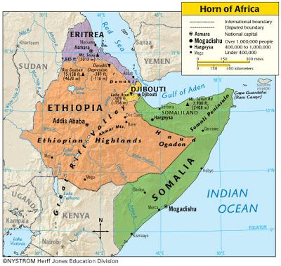 Horn of Africa Map Picture  VARIA  Pinterest  Map pictures