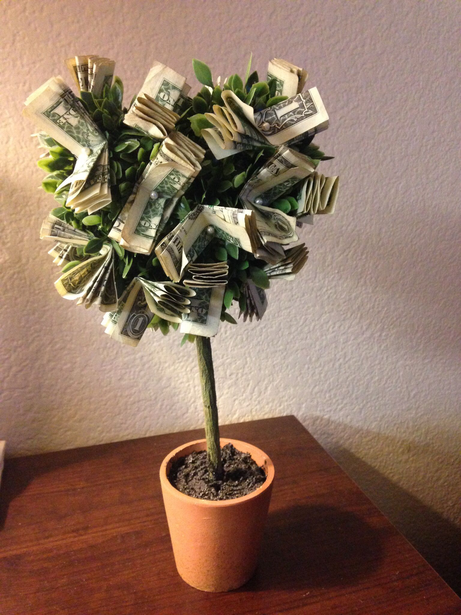 money tree just put a ribbon or some special touch to