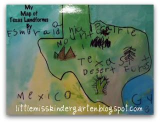 Texas Landform Map This is a great landform map of Texas that could be shown as an