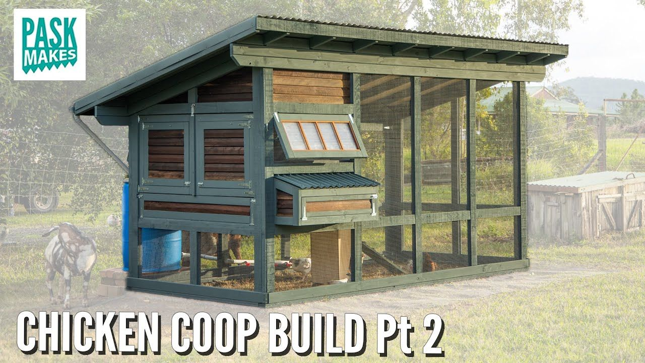 Chicken Coop Build Now Complete Pt2 Youtube Chicken Coop Patio Stones Coop