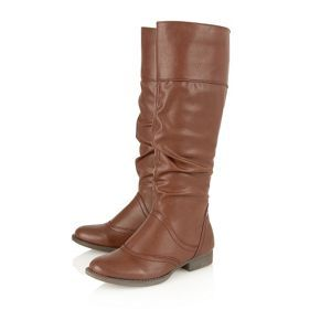 Lotus Brown waxy 'Downton' knee high boots- at Debenhams Mobile