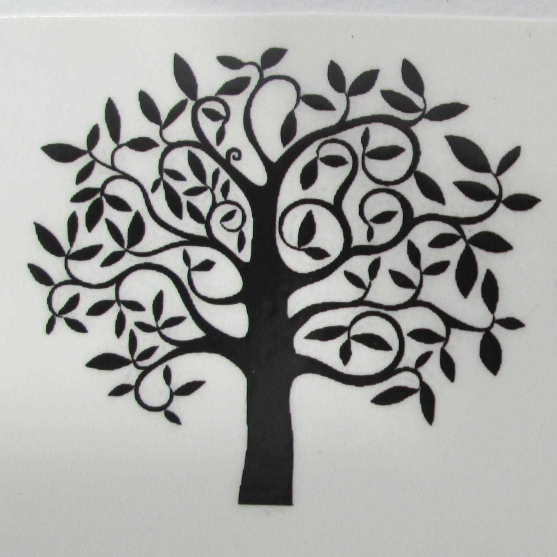 Black Tree Of Life Waterslide Decals  Fused Glass Ceramics