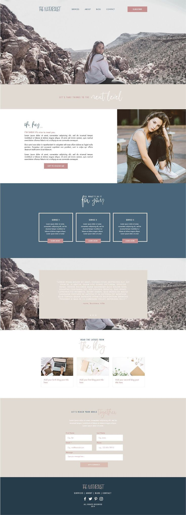 """Madison Hanna"" Showit Template"