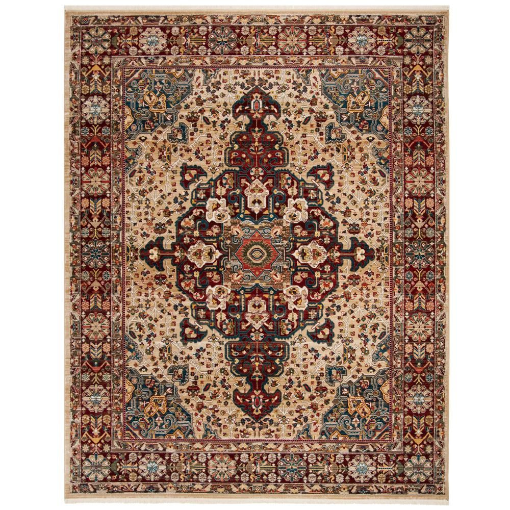 Safavieh Kashan Ivory Red 8 Ft X 10 Ft Area Rug Area Rugs