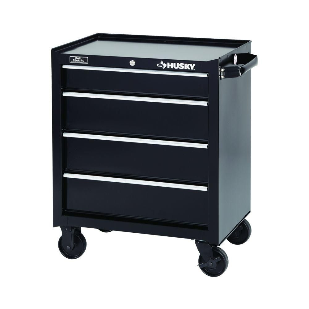 Husky  Drawer Tool Cabinet Black Bkcathd The Home