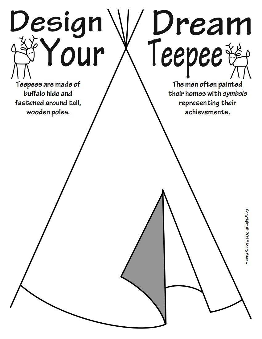 Art enrichment everyday november activity coloring pages 20 activities your kids will love stove americans tepees native american homes buycottarizona Gallery